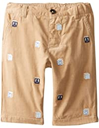 Baby-Boys Newborn Embroidered Letter Blocks Fine Wale Corduroy Pant