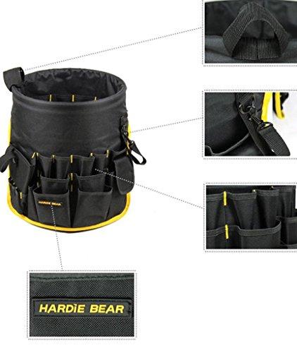 H Bear Garden Bucket Caddy / Gardening Tote / Garden Tools Organizer With  Pockets Round