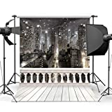 CdHBH City Night 10' x 10' CP Backdrop Computer Printed Scenic Photography Background Photo Backdrop JLT9416