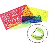 Plastik letter stencils kit - 4 pcs-Alphabet