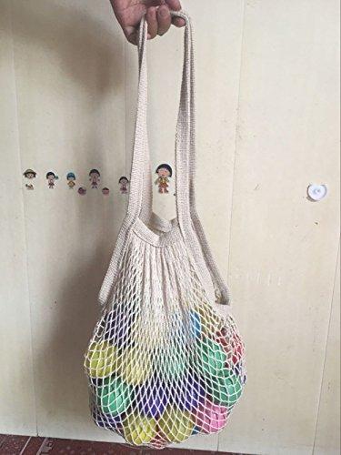 wiederverwendbar Lebensmittels Baumwolle Mesh Taschen–wiederverwendbar Einkaufen String Staubbeutel–bailuoni lang Griff Natur Organic Cotton String Tasche, Fashion Shopping Eco Netz, Staubbeutel