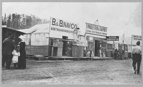 Photo: Street Scene,Anchorage,Alaska,AK,1900-1930,B&B Nav Co.,Store Fronts,Town - Anchorage Store Map