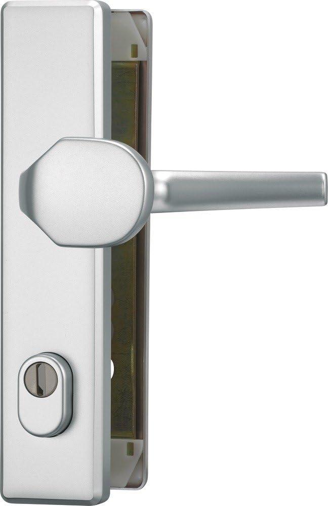 ABUS HLZS814 F1 EK 203510 - Blindaje para cerraduras de portal (aluminio, con protector de cilindro angular)