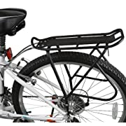 "#LightningDeal 97% claimed: Ibera Bike Rack – Bicycle Touring Carrier with Fender Board, Frame-Mounted for Heavier Top & Side Loads, Height Adjustable for 26""-29"" Frames"