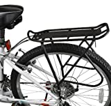 "Ibera Bike Cargo Rack – Bicycle Touring Carrier with Fender Board, Frame-Mounted for Heavier Top & Side Loads, Height Adjustable for 26""-29"" Frames"