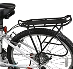 The Ibera PakRak Touring Bicycle Carrier is frame-mounted for heavier top and side loads, carrying up to 25 kg (55 lbs). It features a top plate that acts as a rear fender and splashguard, and seat stay rods that are length adjustable.  The rods can ...