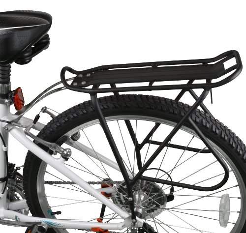 (Ibera Bike Rack - Bicycle Touring Carrier with Fender Board, Frame-Mounted for Heavier Top & Side Loads, Height Adjustable for 26