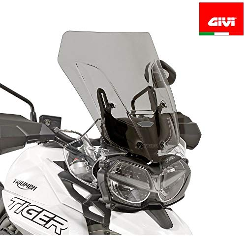 - GIVI D6413S WINDSHIELD SPOILER SMOKED FOR TRIUMPH TIGER 800 XC XR 2018
