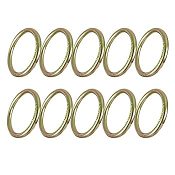 """Image of Belay & Rigging Fusion Climb 4' Drop Forged Steel 5/16"""" Gauge O-Ring 10-Pack"""