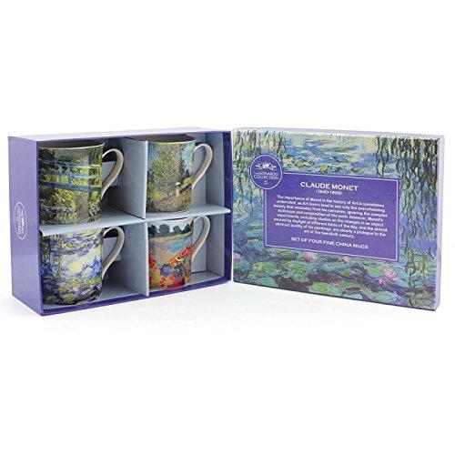 Lesser & Pavey Monet Mugs, multicolour, Set of 4 (Monet Tea Set)