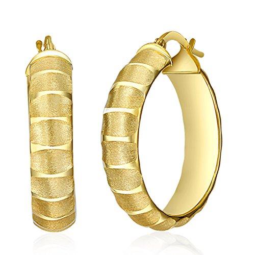 Womens 14k Yellow Gold Sandblast - 6