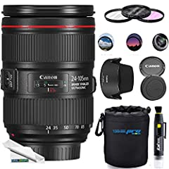 If you could only have one lens, many photographers would pick the upgraded EF 24-105mm f/4L IS II USM Lens from Canon due to its exceptionally versatile zoom range from wide-angle to short telephoto, a constant f/4 aperture, and an outstandi...