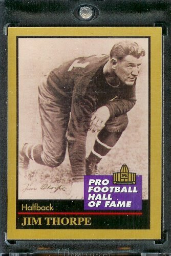 1991 ENOR Football Hall of Fame Football Card #137 Jim Thorpe Mint