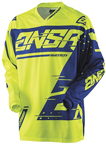 Answer Racing A18 Syncron Men's Off-Road Motorcycle Jerseys - Yellow/Blue / Large by Answer