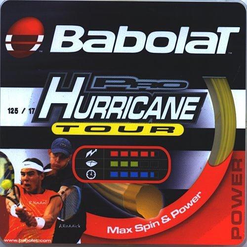 Babolat Pro Hurricane Tour (17-1.20mm) Tennis String Set (Natural) (Babolat Hurricane Pro String)