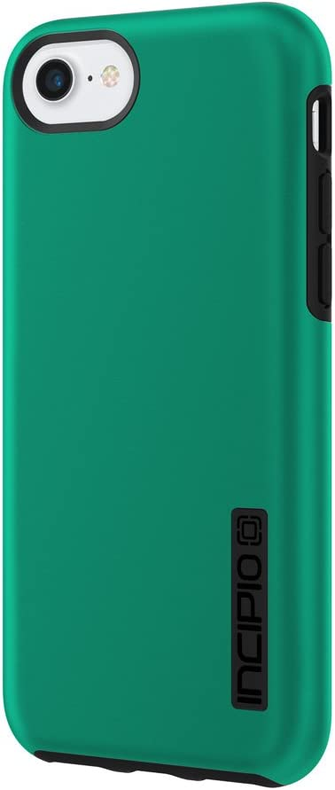 Incipio DualPro iPhone 8 & iPhone 7/6/6s Case with Shock-Absorbing Inner Core & Protective Outer Shell for iPhone 8 & iPhone 7/6/6s - Iridescent Emerald Green/Black