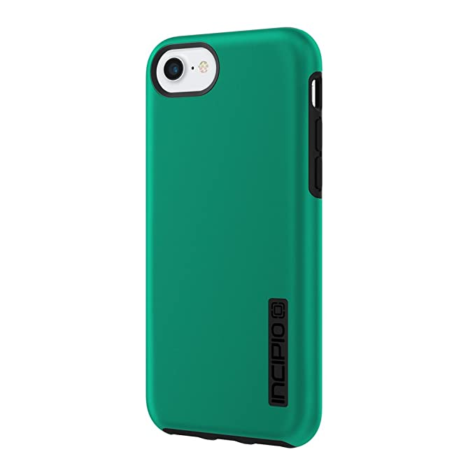 detailed look 0569f 1d4c0 iPhone 7 Case, Incipio [Hard Shell] [Dual Layer] DualPro Case for iPhone  7-Iridescent Emerald Green/Black