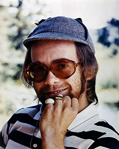 Elton John In Hat and Sunglasses 1970's 16x20 Canvas - Sunglasses 1970