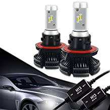 H13 9008 LED Headlight Bulbs Conversion Kit CANBUS Error Free 3000K 6500K 8000K Free DIY PHI-ZES 12000LM/set Driving Fog Lights Replace Halogen Xenon HID Bulb +1Pair DECODER,1 Yr Warranty