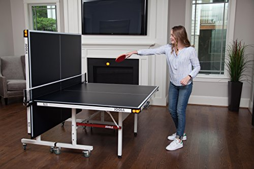 JOOLA Rally TL 500 Table Tennis Table with Corner Ball Holders and Magnetic Scorers