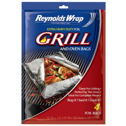 Reynolds Wrap Extra Heavy Duty Foil Grill and Oven Bags (4 Count) (Oven Bag Small compare prices)