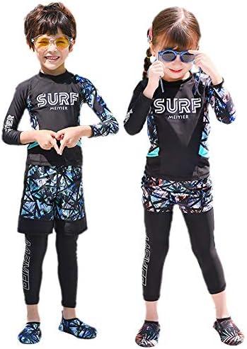 水着 キッズ 男の子 女の子 ラッシュガード 長袖 レギンス ショートパンツ 3点セット フィットネス 水泳 海水浴 UVカット UPF50+ 吸汗速乾