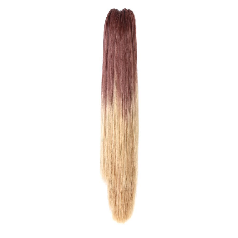 Neverland Beauty 22 Ombre Two Tone Long Straight Ponytail Synthetic Claw on Hair Extensions #2 Neverland Beauty & Health