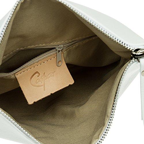 TL763 Blanc pour nappa véritable Pochette en Clutch soirée cuir CASPAR femme de dxYZqawd