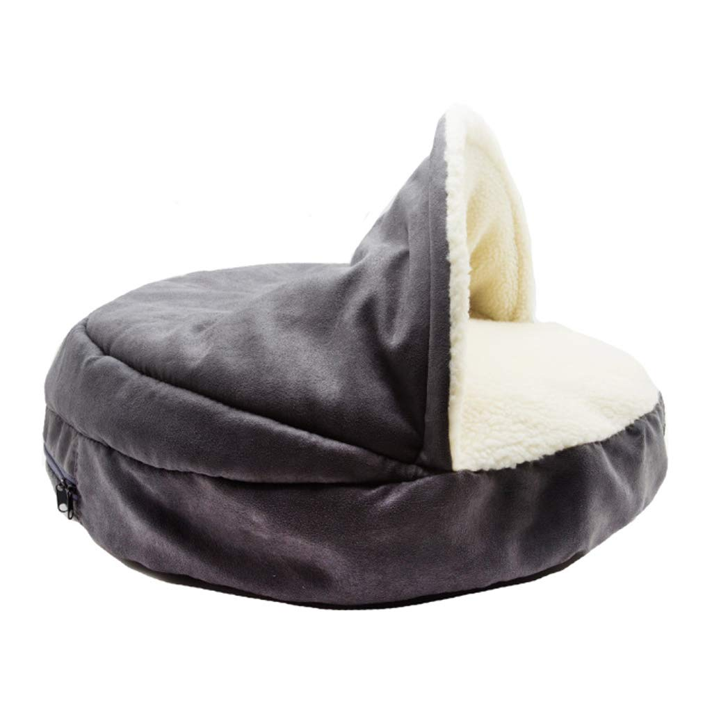 B Large B Large CLSLLHY GOUW Pet Bed, Soft and Warm Pet Cave Cat and Dog Universal Large Medium Grey (color   B, Size   L)