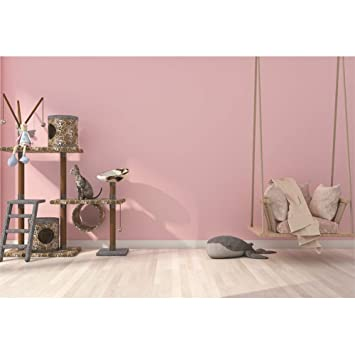 CSFOTO 10x7ft Girl Bedroom Decoration Backdrop Living Room Decor Background for Photography Interior Room Decor for Girl Hammock Cat Sofa Pink Wall ...