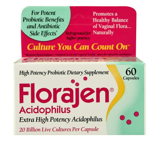 Florajen Acidophilus -- 60 Capsules - 3PC