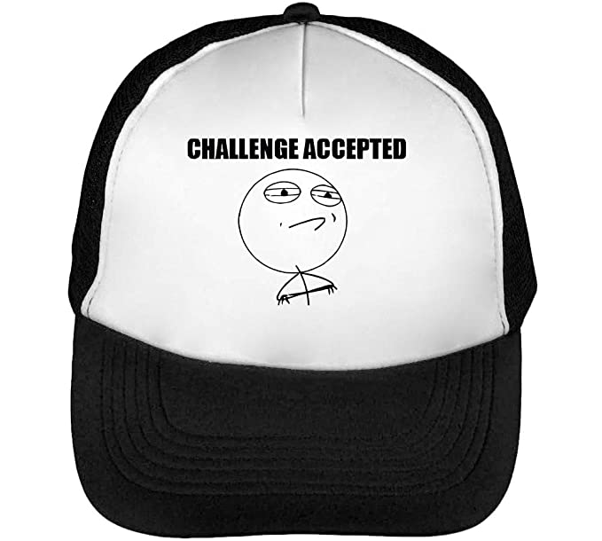 Challenge Accepted Funny Internet Meme Gorras Hombre Snapback ...