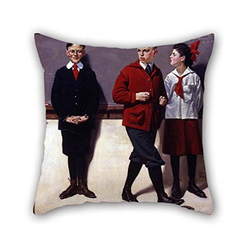 Pillowcover 20 X 20 Inches / 50 By 50 Cm(twin Sides) Nice Choice For Sofa Play Room Coffee House Lounge Seat Chair Oil Painting Norman Rockwell - Cousin Reginald Spells Peloponnesus (Spelling Bee) (Spelling Lounge)