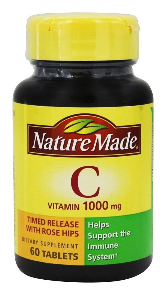 Nature Made Vitamin C 1,000 mg w/ Rose Hips Tabs