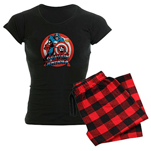 (CafePress Captain America Womens Novelty Cotton Pajama Set, Comfortable PJ)