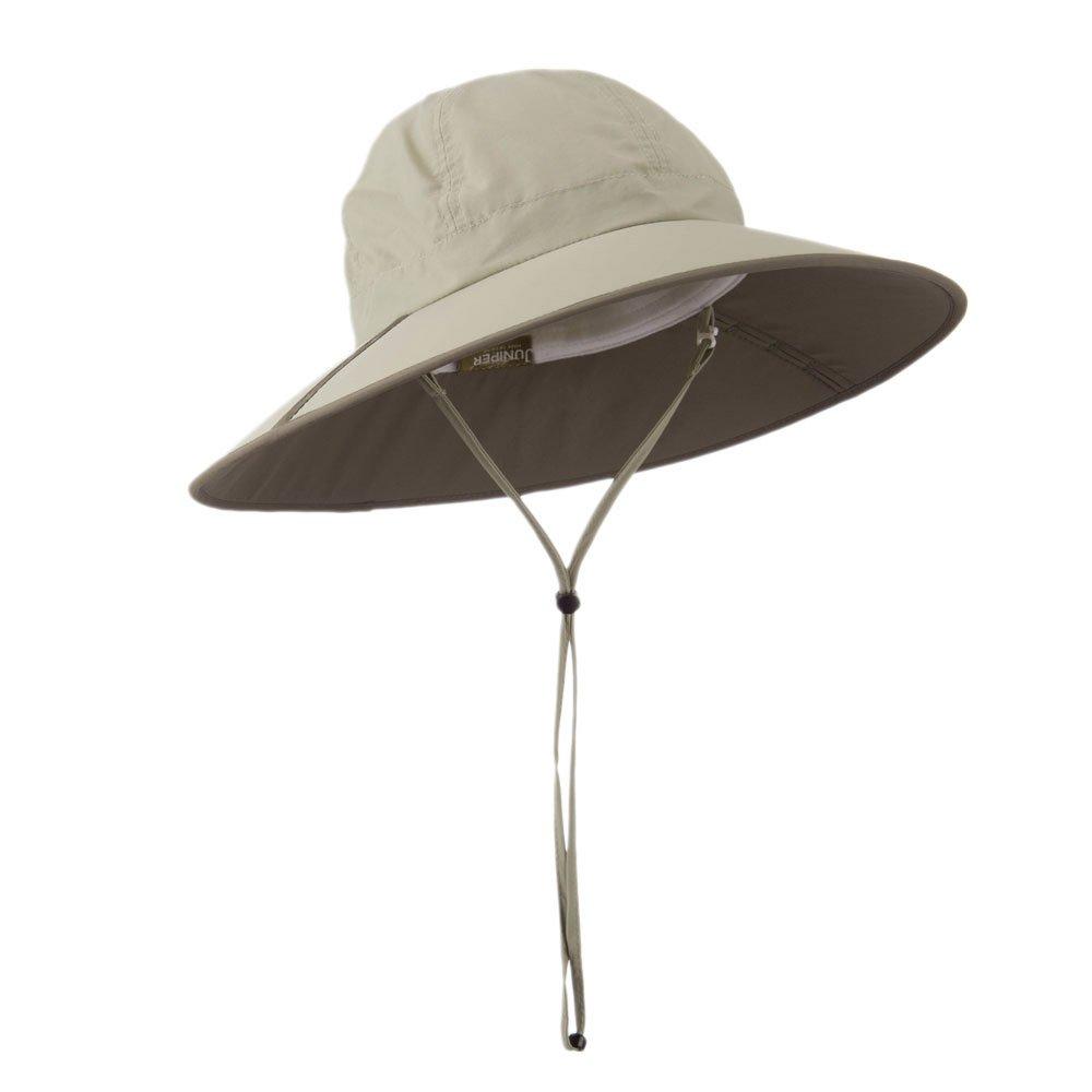 MG UV 50 Khaki Talson Folding Large Brim Flap Hat