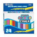 BAZIC Assorted Color Chalk, Blackboard Chalkboard 6 Colors Chalks, Great Game Activity for Kids, Art Teacher Office Classroom Store Home