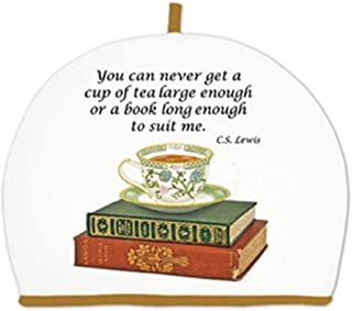 product image for Alice's Cottage Teacup and Books Flour Sack Towels Set of 2 Cotton
