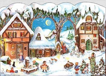 king werks european village german christmas advent calendar