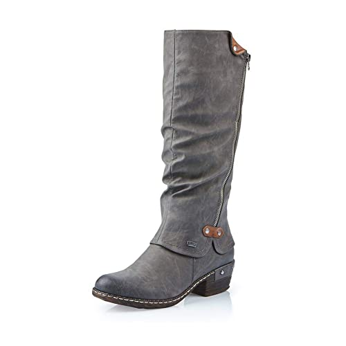 newest 6b759 74148 Rieker 93655 Damen Langschaft Stiefel