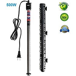 Soyon Aquarium Heater 500W, Fish Tank Heater with Adjustable Temperature 80 Gallon-100 Gallon Submersible Water Heater
