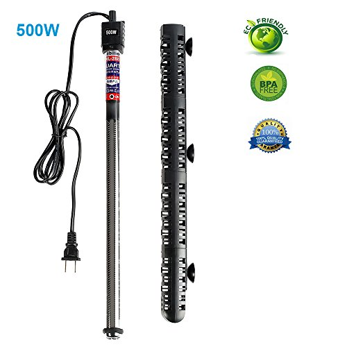 Soyon Aquarium Heater 500W, Fish Tank Heater with Adjustable Temperature 80 Gallon-100 Gallon Submersible Water -