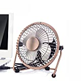 Esup 4-Inch Mini USB Desktop Silent Personal Fan, Bronze