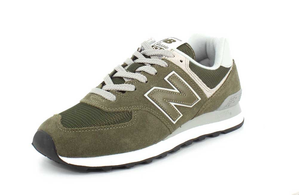 New Balance Men's ML574EGO, Olive, 8.5 D US