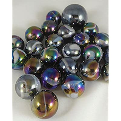 Mega Marbles - MILKY WAY MARBLES NET (1 Shooter Marble & 24 Player Marbles): Toys & Games