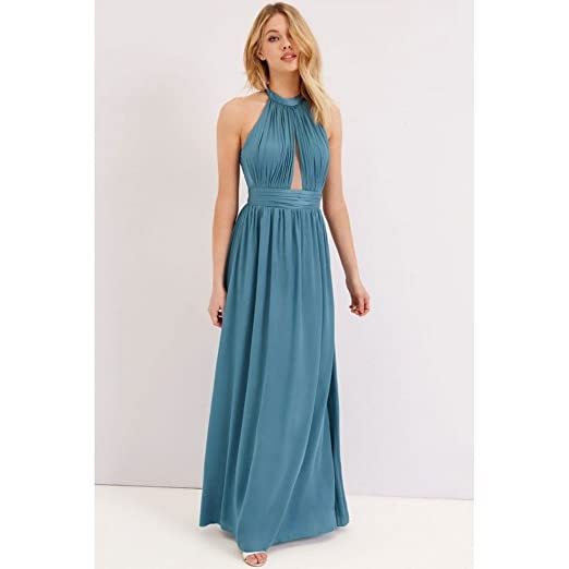 Little Mistress Womens/Ladies Petrol Keyhole Maxi Dress (10) (Petrol) at Amazon Womens Clothing store: