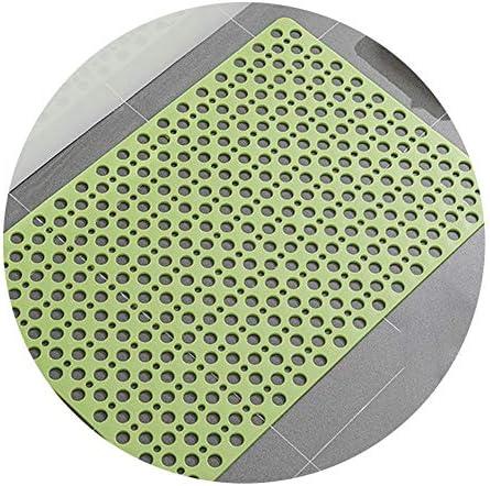 GHHQQZ バスルームのカーペット ノンスリップ 丸穴 吸盤 バスルームラグ PVC フットパッド 家庭、 4色、 厚さ0.7 cm、 複数のサイズ (Color : Yellow, Size : 90x60cm)