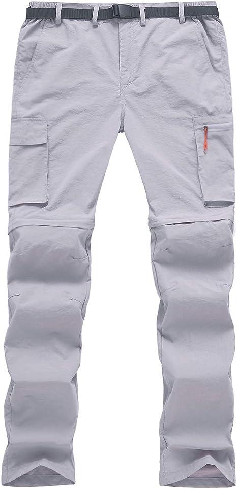 TACVASEN Mens Convertible Pants-Quick Dry Hiking Zip Off Travel Cargo Pants Lightweight