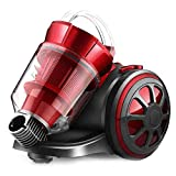 Cylinder Vacuum Cleaner, Super-Quiet Bagless Cylinder Powerful Compact Lightweight Corded 1400W Vacuum Cleaner