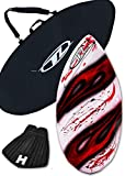Skimboard Package for beginners - Red - 38'' Fiberglass Wave Zone Diamond plus Board Bag and/or Traction Pad - For Riders up to 110 lbs … (Board + Traction + Bag)